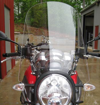 PARABELLUM Sport Touring Windshield on Moto Guzzi Breva