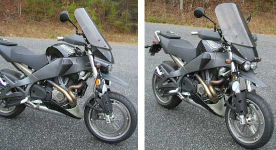 Parabellum Replacement Windshield for the Buell Ulysses
