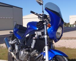 Parabellum Scout Fairing on Suzuki SV650